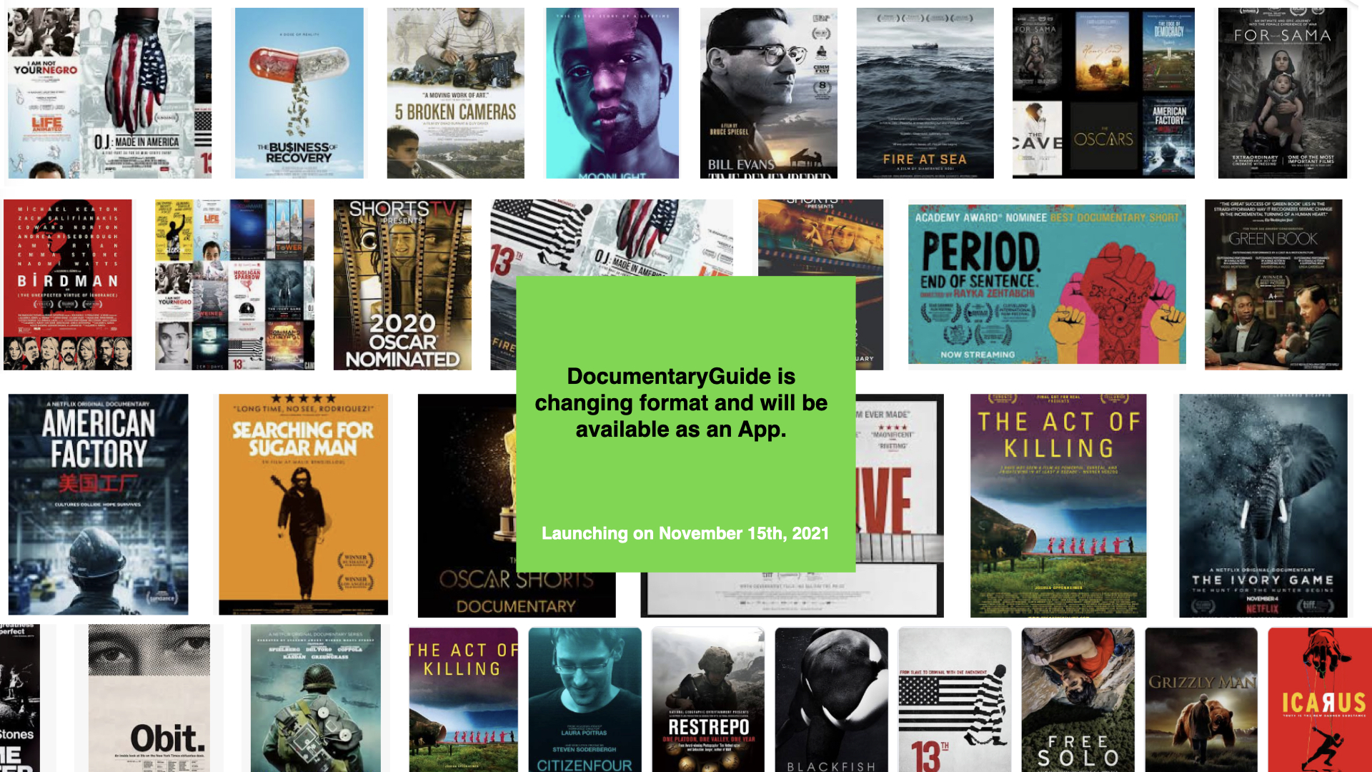 Documentary Guide Coming Soon